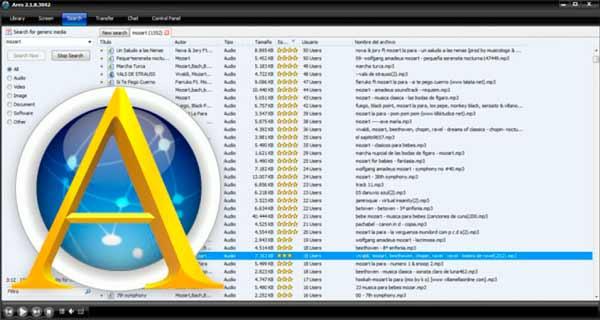 Aplicaciones para descargar música Ares