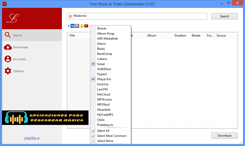 Music and Video Downloader