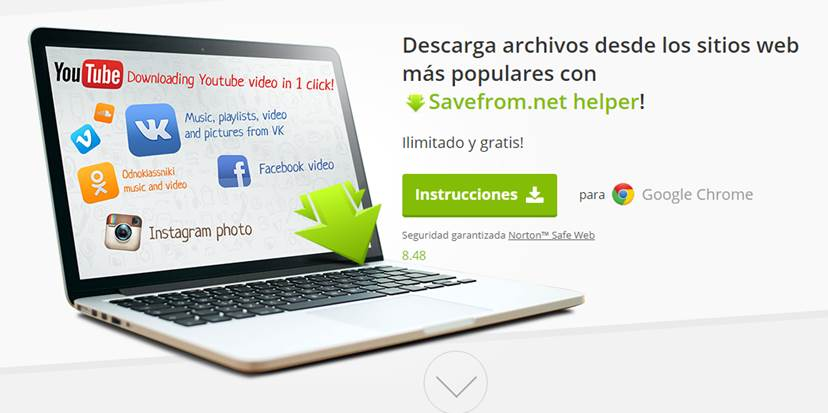 descargar video y mp3 en la plataforma