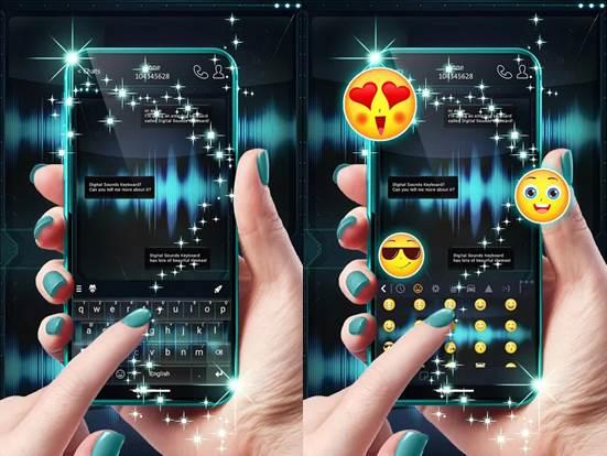 interfaz de la app teclados con efectos digitales