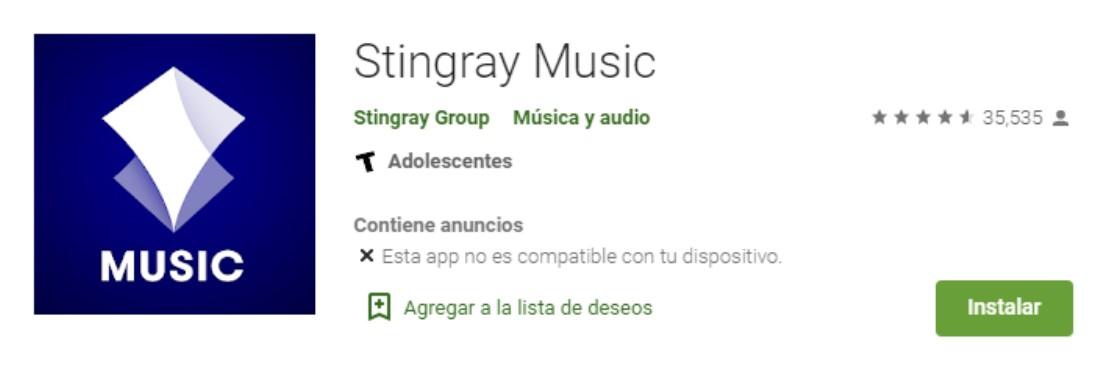 descargar stingray music en google play