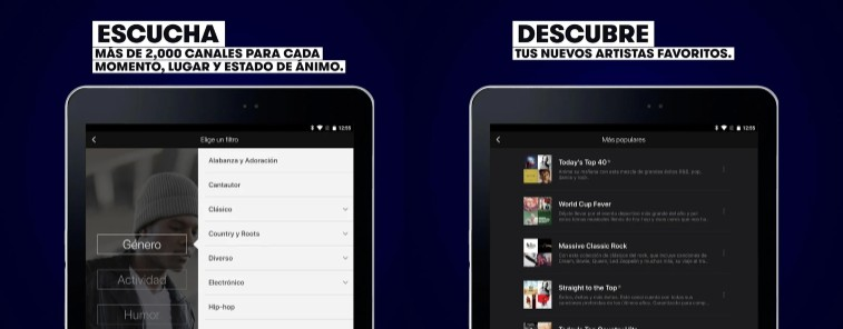 stingray music para tablet